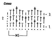 Описание вязания к плотный узор №3949 крючком