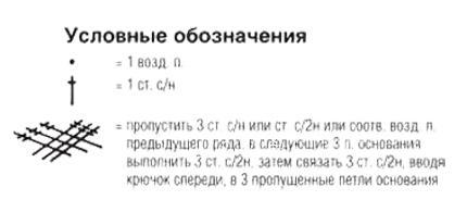 Описание вязания к узор крючком №4065 крючком
