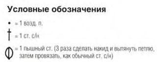 Описание вязания к узор крючком №4075 крючком