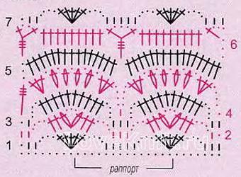 Описание вязания к узор фантазийный №4078 крючком
