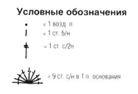 Описание вязания к узор крючком №4107 крючком