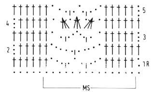 Описание вязания к ажурный узор №4110 крючком