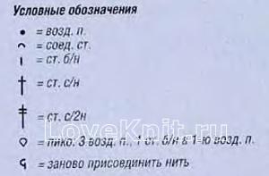 Описание вязания к узор крючком №4148 крючком