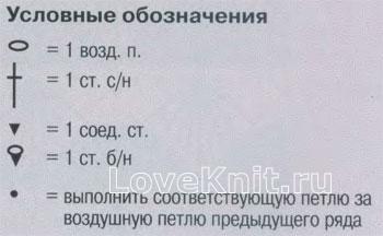 Описание вязания к узор крючком №4165 крючком