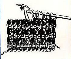 Описание вязания к двухцветный узор в клетку (тунисское вязание) №4261 крючком