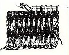Описание вязания к двухцветный узор в полоску №4262 крючком