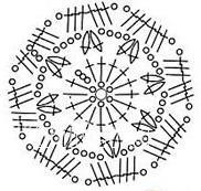 Описание вязания к  ирландский узор №4298 крючком