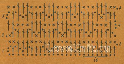 Описание вязания к узор №1198 крючком