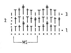 Описание вязания к узор крючком №3898 крючком