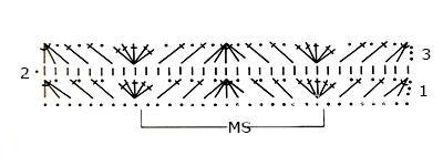 Описание вязания к цветной узор №3900 крючком