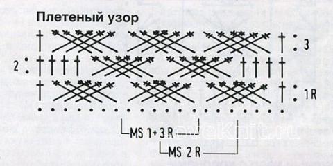 Схема вязания плетёнки 57