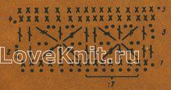 Описание вязания к узор №1202 крючком