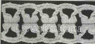 Описание вязания к сетка (3) крючком