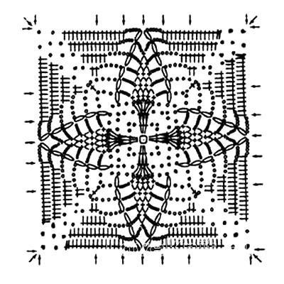 Описание вязания к узор кружево №3787 крючком