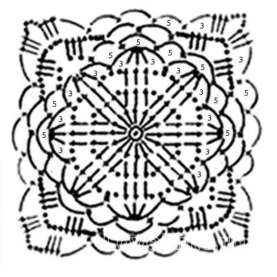 Описание вязания к узор крючком №3792 крючком