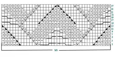 Описание вязания к рельефный узор №3757