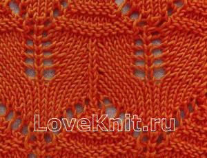 Описание вязания к ажурные узоры 3 спицами