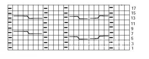 Описание вязания к узор спицами №3750 спицами