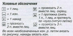 Описание вязания к узор изразцы №1235 спицами