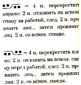 Описание вязания к узор из кос (жгутов) №1769 спицами