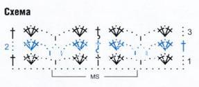 Описание вязания к узор №1822 спицами