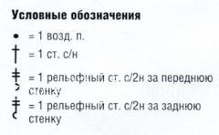 Описание вязания к узор рельефный №1823 спицами
