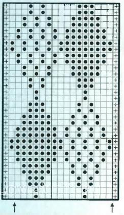Описание вязания к узор простой №1948 спицами