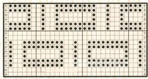 Описание вязания к узор простой №2012 спицами