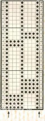 Описание вязания к узор простой №2014 спицами