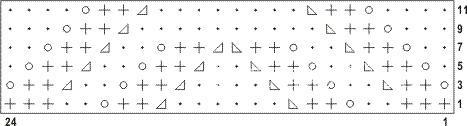 Описание вязания к узор ажурные полосы №2566 спицами