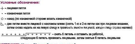 Описание вязания к узор ажурный №2579 спицами