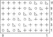 Описание вязания к узор ажурный №2595 спицами