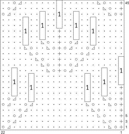 Описание вязания к узор ажурный № 2602 спицами