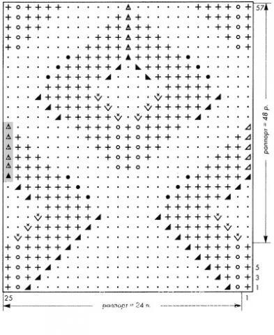 Описание вязания к узор ажурные ромбы №2654 спицами
