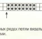 Описание вязания к узор спицами №3495 спицами