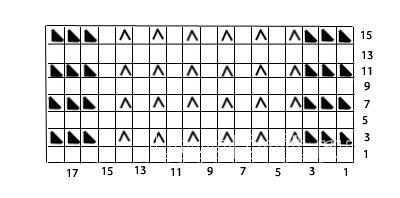 Описание вязания к узор спицами №3558 спицами