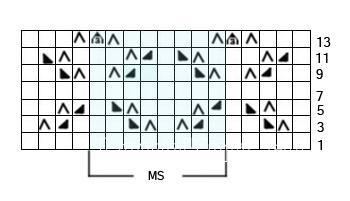 Описание вязания к узор спицами №3588 спицами