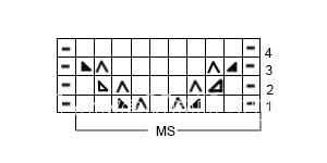 Описание вязания к узор спицами №3605 спицами