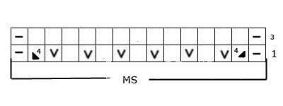 Описание вязания к узоры из ажурных полос №3646 спицами