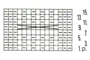 Описание вязания к объемный узор №3692 спицами