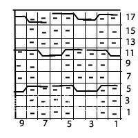 Описание вязания к простой узор №3707 спицами
