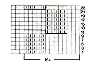 Описание вязания к объемный узор №3723 спицами