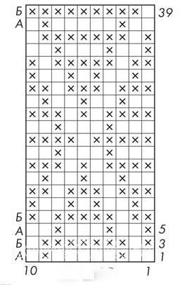 Описание вязания к узор интарсия цветной №5050 спицами