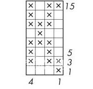 Описание вязания к узор интарсия №5051 спицами