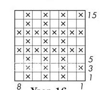 Описание вязания к узор интарсия №5053 спицами
