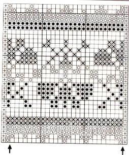 Описание вязания к узор жаккардовый интарсия №5071 спицами