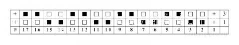 Описание вязания к узор жемчужный №5085 спицами