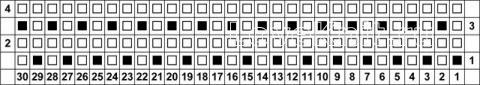 Описание вязания к узор жемчужный мох №5086 спицами