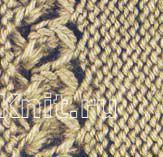 Описание вязания к узор ажурный №1279 спицами