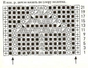 Описание вязания к узор ажурный №1642 спицами